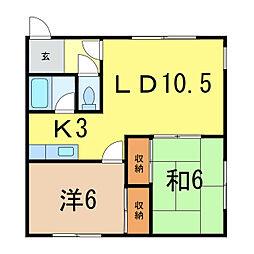 豊岡4.5ハイツ[2階]の間取り