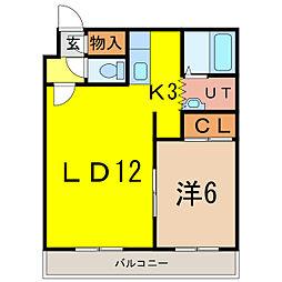 サンフラワー308[3階]の間取り