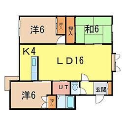 メープルハイツII[2階]の間取り