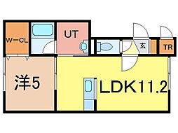 ラメゾン神楽II[1階]の間取り