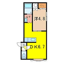 ノヴェル4・1 A[2階]の間取り