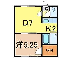 ドリームハイツ友光3号館[1階]の間取り