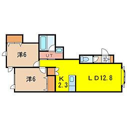 ミラージュB[2階]の間取り