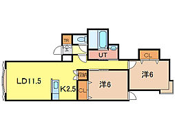 ミラージュB[1階]の間取り