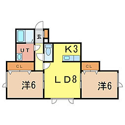 SKY Manshon[1階]の間取り