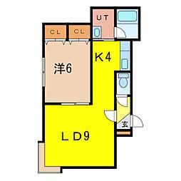 アスティ8.3[1階]の間取り