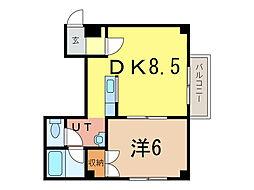 イーグル311[2階]の間取り
