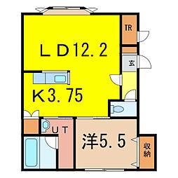 ボックスJ[1階]の間取り