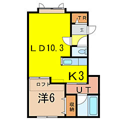 北海道旭川市七条通17丁目の賃貸アパートの間取り