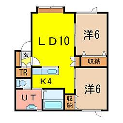 アルト22[2階]の間取り