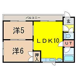 第3ハウスカワゾエ[2階]の間取り
