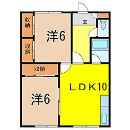 藤マンション[2階]の間取り