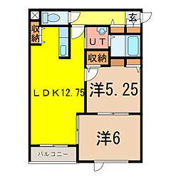 CLUTCH[1階]の間取り