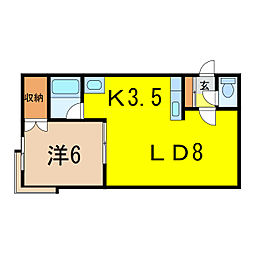 サンセット98[1階]の間取り