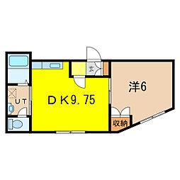 ダイヤハイツ本町2[1階]の間取り