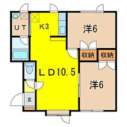 エステート138B[2階]の間取り