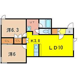 N・ブルーム—ン[1階]の間取り