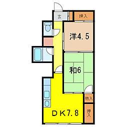 旭川駅前ビルマンション[7階]の間取り