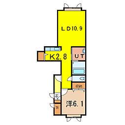 メゾン・ド・ルシャII[2階]の間取り