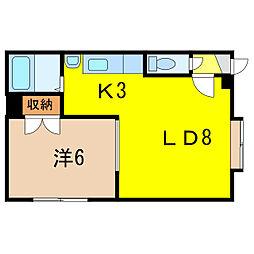 メゾンドビジュー[2階]の間取り