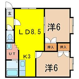 ダイヤハイツ忠和4−5[1階]の間取り
