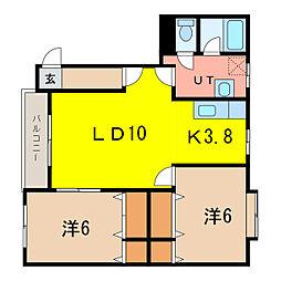 ラン・フォルセ[1階]の間取り