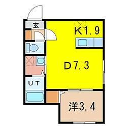 仮称:2条通10丁目MS[2階]の間取り