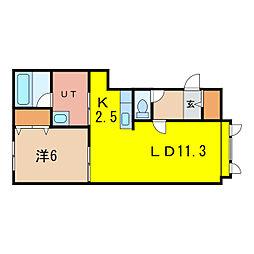 ボックス南C[1階]の間取り