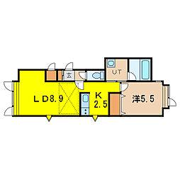 ニューエスパニア9[2階]の間取り