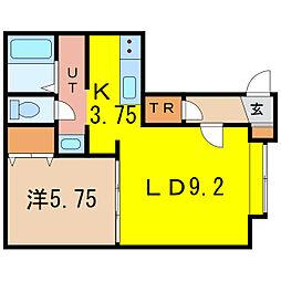 グレートビューF3・3 C棟[1階]の間取り