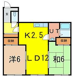 stella緑町A[2階]の間取り