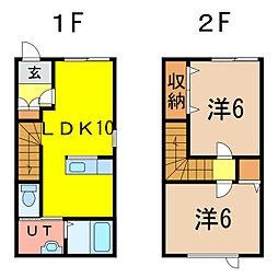 5・5ハイム[1階]の間取り