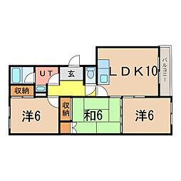東光1・3ハイツ[2階]の間取り