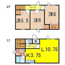 [一戸建] 北海道旭川市東光十条2丁目 の賃貸【/】の間取り