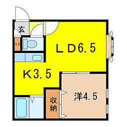 ロイヤルハープM[1階]の間取り