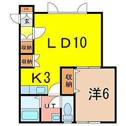 メゾン・ド CHIBIRU[1階]の間取り