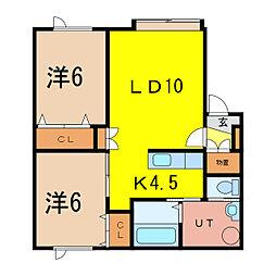 アルト31[1階]の間取り