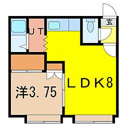 エクセドラ3・4[1階]の間取り