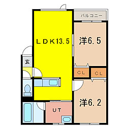 Comfort 4‐5 st[1階]の間取り