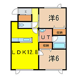 上富良野町宮町3丁目 新築[2階]の間取り