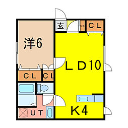 メゾン松田I[1階]の間取り