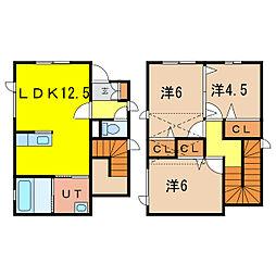 YMH 1階3LDKの間取り