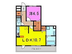 スクエア新富[3階]の間取り