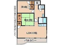 第78松井ビル[9階]の間取り