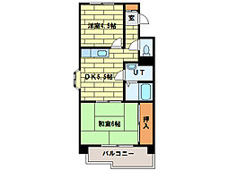 サニーヒルズ3番館[4階]の間取り
