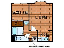 プレイズ澄川[3階]の間取り