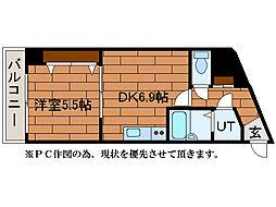 ウエスト35[8階]の間取り