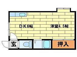 ウィズタウンIII[2階]の間取り