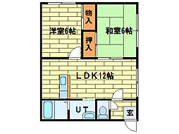 ローヤルハイツ藤野A棟[1階]の間取り