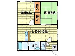 ローヤルハイツ藤野A棟[2階]の間取り